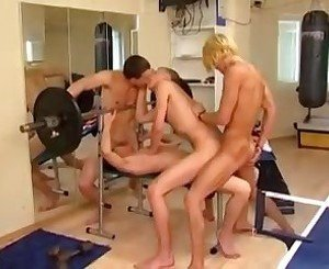 Cute Twinks DP Group Orgy