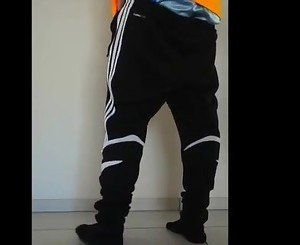 Sagging in Adidas  Sweatpants and Satain Boxers Bulge