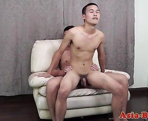 Asian twink bareback fucking tight ass