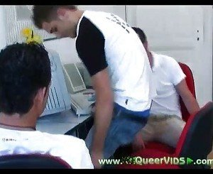 Office twinks having fun
