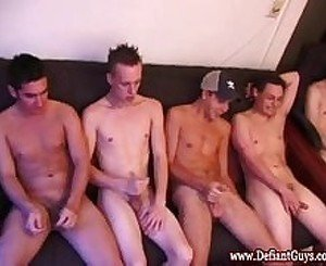 Straight amateur twink gets some facials
