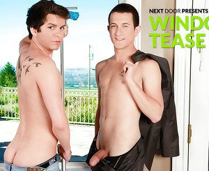 Justin Visic & Caden Brooks in Window Tease XXX Video
