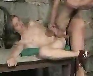 Cute longhaired boy getting fucked bare