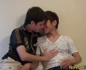 Japanese twink gets anal