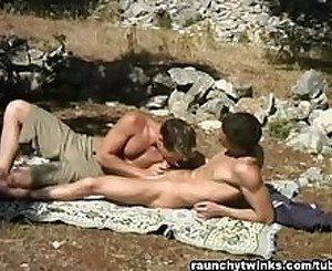 Hardcore Guy on Guy Anal Fucking Outdoors