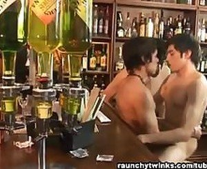 Gay Threeway at the Bar