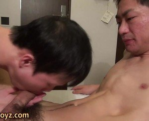 Asian twink shower stroke