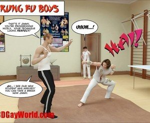 KUNG FU BOYS 3D Gay Cartoon Animated Comics American Hentai Art