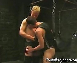 Hot twinks in sexy bondage session